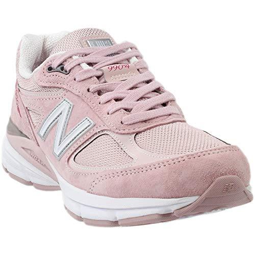 (New Balance Men's 990v4 Running Shoe, Faded Rose/Komen Pink, 10 D US)