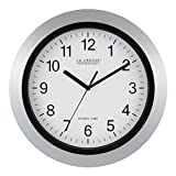La Crosse Technology WT-3129S Atomic Analog Wall Clock, 12'', Silver