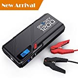 zeta jump starter - Powerful Jump Starter-1200A Peak (2018 upgraded) by Spacekey - Portable  Car Jump Starter (Up to 6.5L Gas or 5.2L Diesel), Auto Battery Pack, Booster Charger with QC3.0 Output and LED Flashlight