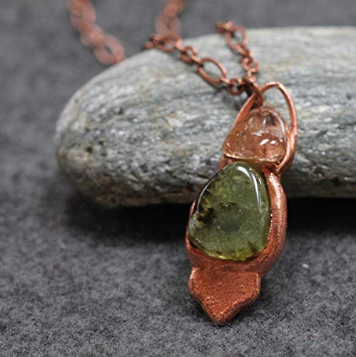 Handmade Healing Crystal Tourmaline and Topaz Copper - Multi Crystal Topaz