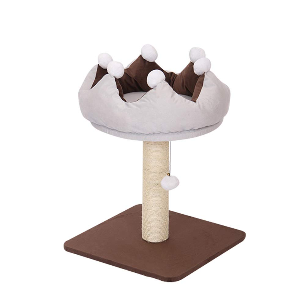 Brown 45x45x60cm Brown 45x45x60cm SHIJINHAO-Cat tree Climbing Frame Stable Sisal Column Jump Platform Hanging Toy Large small Model Activity Tower, 3 Styles (color   Brown, Size   45x45x60cm)