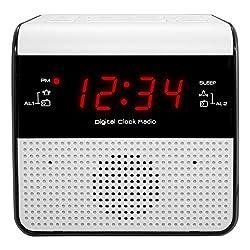 Equity by La Crosse 30118 FM Alarm Clock Radio with USB Charge Port