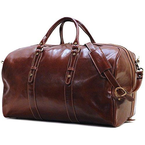 Floto Luggage Venezia Grande Duffle Bag, Vecchio Brown, One Size