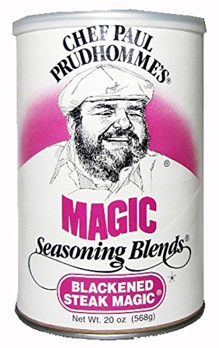 Chef Paul Blackened Steak Magic Seasoning, 20-Ounce Canisters (Pack of 2) ()