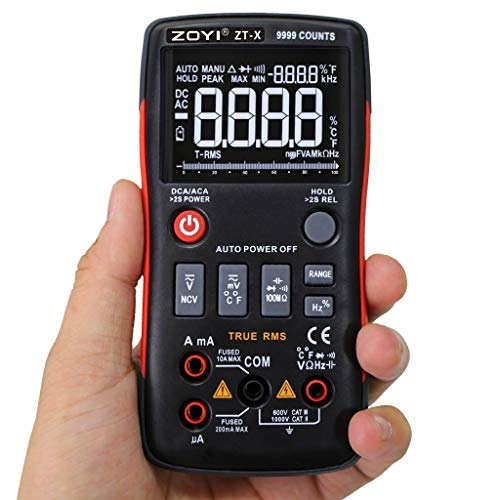 Ciyoon 2019 New Digital Multimeter Button 9999 Counts with Analog Bar Graph AC/DC Voltage Ammeter for ZOYI ZTX ()