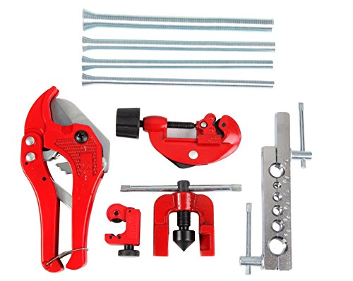Kit Brake Yoke - 9 Piece Flare Tool, Brake Flaring Tool, Brake Line Flaring Tool, Brake Line Flare Tool by Shankly