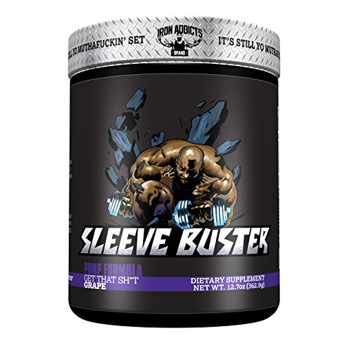 Sleeve Buster | Iron Addicts | Pre-Workout Pump Formula | Formulated By CT Fletcher (30 Servings, Grape)