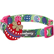 """Blueberry Pet Holiday Excellence Sweet Fantasy Paris Green Designer Dog Collar, Small, Neck 12""""-16"""", Adjustable Collars for Dogs"""