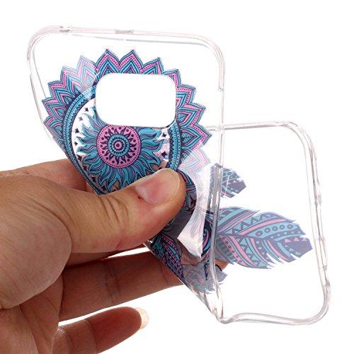 mokyo Samsung Galaxy S6Edge Funda Suave, transparente Gel TPU Funda de silicona con [libre Stylus Lápiz] antigolpes antiarañazos Teléfono de buzón Super fina goma Rubber Carcasa Transparente jalea pi atrapasueños