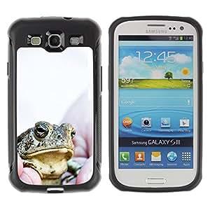 Fuerte Suave TPU GEL Caso Carcasa de Protección Funda para Samsung Galaxy S3 I9300 / Business Style Boss Frog