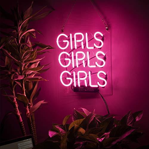 Neon Signs Girl Girls Girls Girls Neon Signs Girl Wall