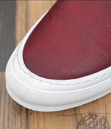 GRRONG Chaussures De Planche Tendance Des Jeunes Hommes Mode Britannique De Chaussures De Sport red chBNZxXFPK