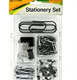 SKB Family Push Pins & Clips Stationery Set home office assortment metal plastic
