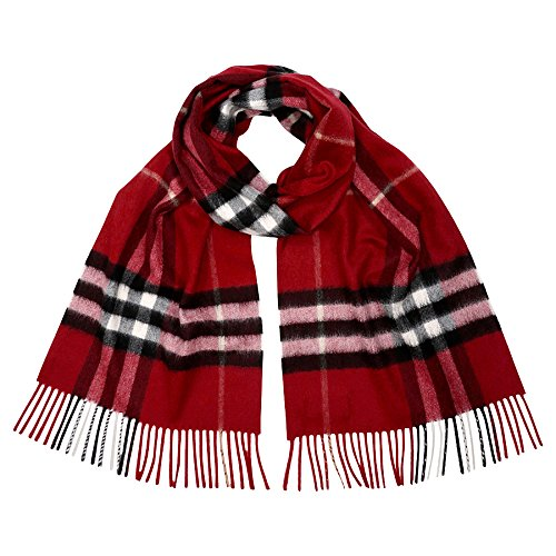 Burberry Women's Giant Check Scarf Red