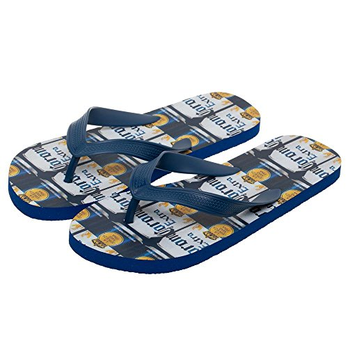 Corona Extra Repeating Can Labels Unisex Sandals Flip Flops Medium Black ()