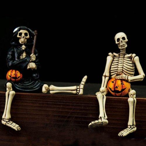 Resin Sitabouts Skeleton & Grim Reaper 2 Asst