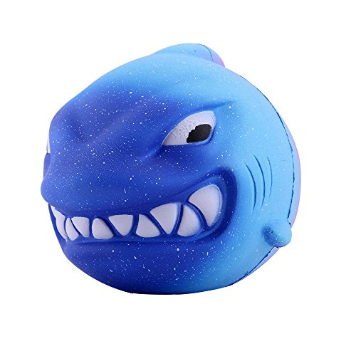 Shark Ball - Anboor 5.5 Inches Squishies Shark Galaxy Jumbo Kawaii Super Soft Slow Rising Scented Animal Big Squishies Stress Relief Kid Toys