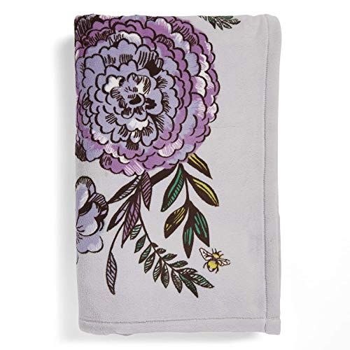 Vera Bradley Plush Throw Blanket, Fleece, Lavender Meadow