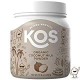KOS Organic Coconut Milk Powder | Unsweetened, Dairy Free Coconut Milk Powder | USDA Organic, Keto Friendly, No Additives, Plant Based Ingredient, 358g, 179 Servings