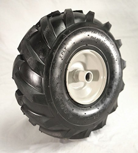 - 11 x 4.00 X 4 Tractor Tread Tire & Rim - Craftsman & Troy-Bilt Tiller Replacement Wheel