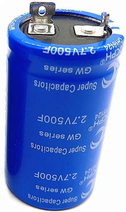 BouBou Super Fala Capacitor 2.7V500F Peut /Être Utilis/é comme V/éhicule Rectifier Low Temperature Starting Capacitor Blue 2.7V 500F