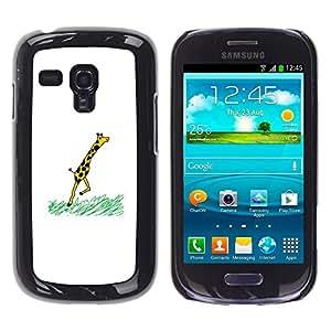 EJOY---Cubierta de la caja de protección la piel dura para el / Samsung Galaxy S3 MINI 8190 / --Jirafa divertida COMIC