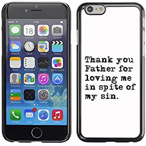 Qstar Arte & diseño plástico duro Fundas Cover Cubre Hard Case Cover para Apple iPhone 6 Plus(5.5 inches)(THANK YOU FATHER FOR LOVING)