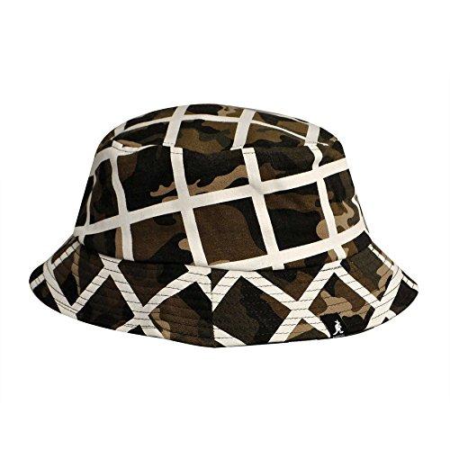 Kangol K1811ST Mens Camo Check Bucket Hat ed36cf64e0c