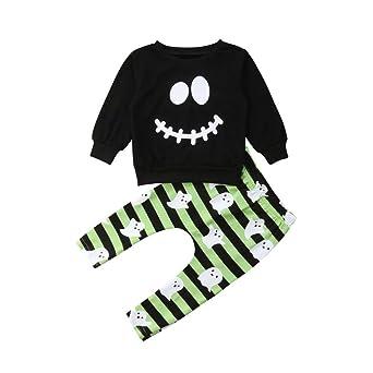 Wang-RX Halloween Baby Boys Toddler Ropa para niños Camiseta de ...