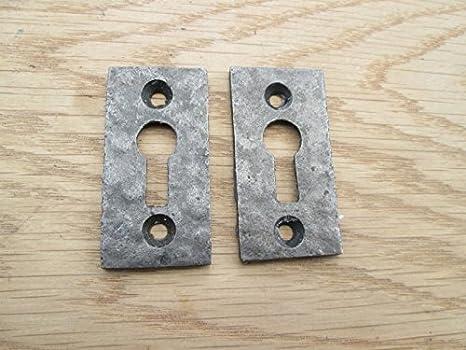 Ironmongery World® de hierro fundido envejecido cerradura clave agujero de instalación para cerradura de la