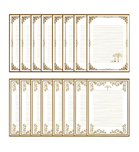 IMagicoo 40 Vintage Retro Lined Writing Stationery Paper Letter Set with 20 Envelope/Envelope Seal Sticker (White)