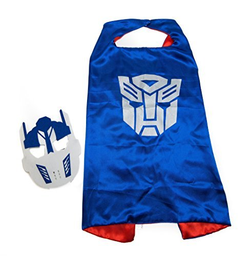 Kids Capes Blue Transformer and Mask Set]()