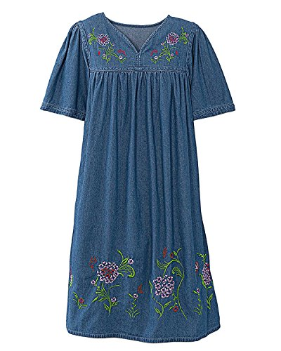 National Sweet Hydrangea Denim Dress product image