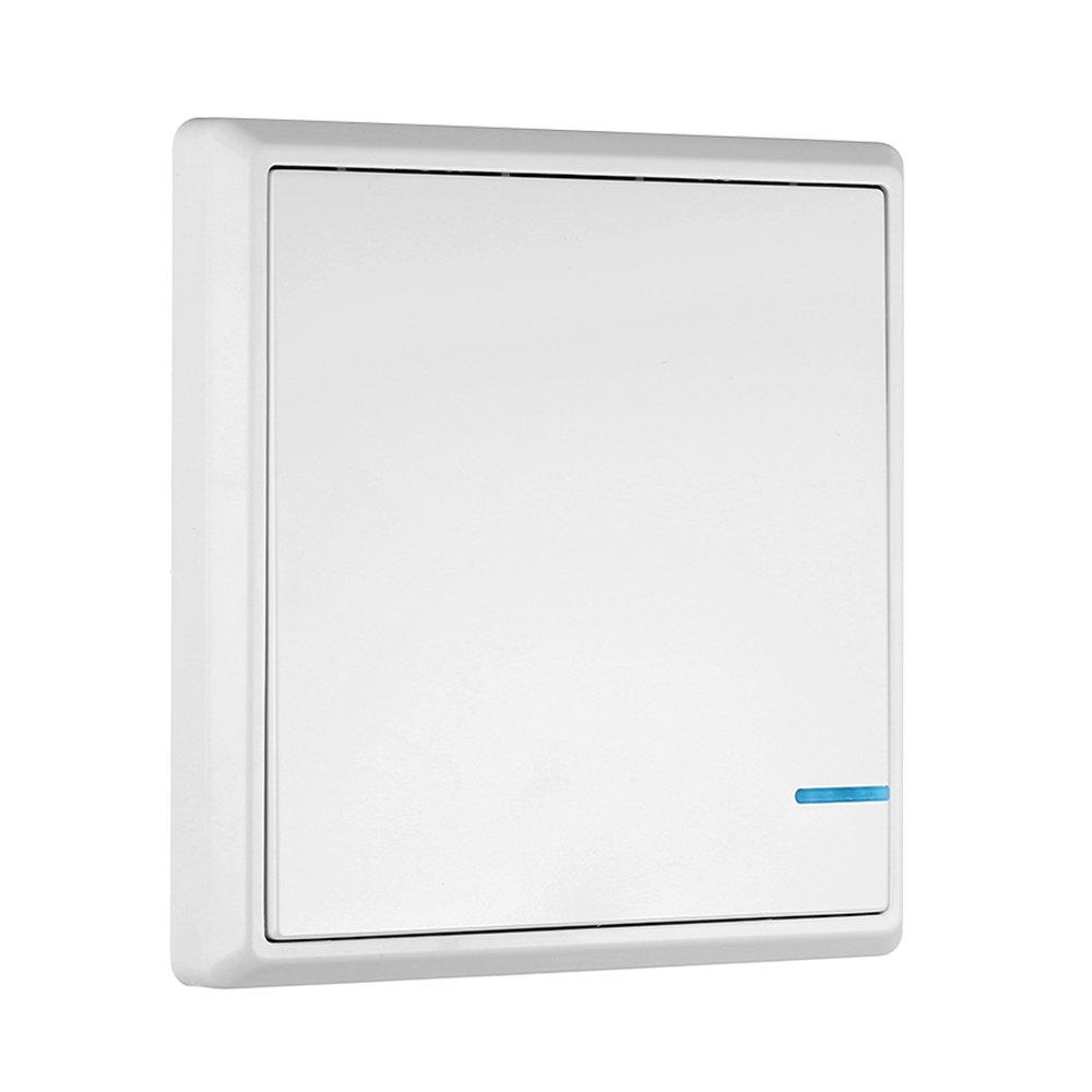 1 Bot/ón KKmoon Transmisor de Interruptor Inal/ámbrico Control Remoto Impermeable para Iluminaci/ón de Casa y Electrodom/ésticos