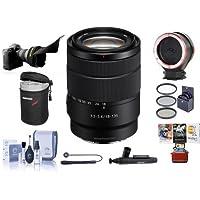 Sony 18-135mm f/3.5-6.3 OSS E-Mount NEX Camera Lens - Bundle With 55mm Filter Kit, Flex Lens Shade, Peak Lens Changing Kit Adapter, Lens Case, Capleash II, LensPen Lens Cleaner, MAC Software Package