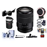 Sony 18-135mm f/3.5-6.3 OSS E-Mount NEX Camera Lens - Bundle With 55mm Filter Kit, Flex Lens Shade, Peak Lens Changing Kit Adapter, Lens Case, Capleash II, LensPen Lens Cleaner, MAC Software Package
