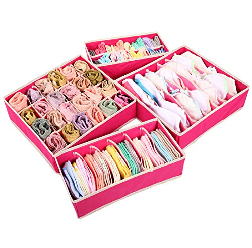 Storage Wardrobe and Clothes Organizer (Hot Pink) - 8
