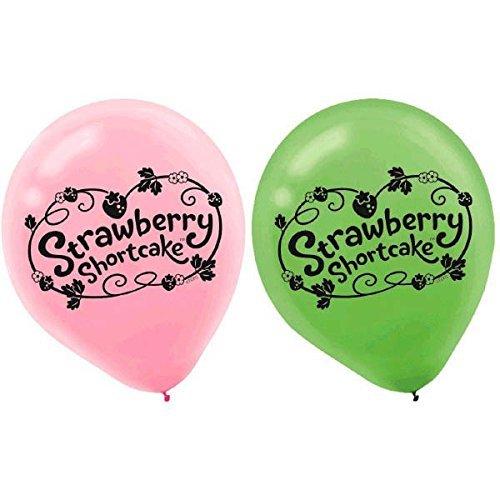 amscan Pretty Strawberry Shortcake Birthday Party Latex Balloons Decoration (6 Pack), 12