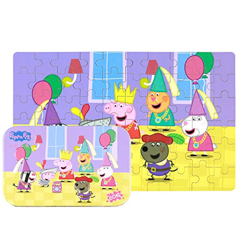 (Yale Peppa Pig Kid 60 Piece Jigsaw Puzzle Game for 3-8 Age,Portable Box Pack Toy)