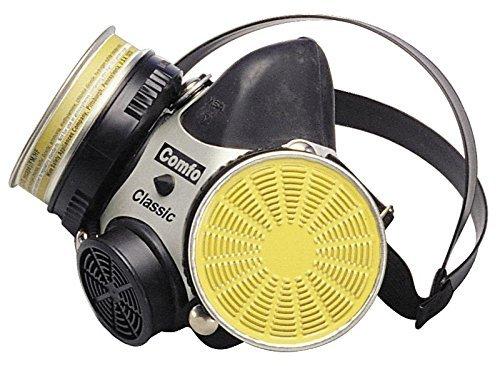 MSA 808073 Comfo Classic Soft Feel Silicone Half-Mask Facepiece Respirator, Large, Black by MSA