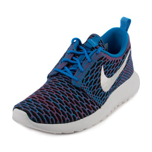 4a1a362dc4f08 Galleon - Nike Womens Wmns Roshe One Flyknit Photo Blue White-Red Mesh Size  9