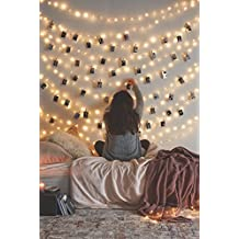 12APM Curtain 66 Ft 200LEDs Waterproof Starry Fairy Copper String Lights USB Powere, Warmwhite-66ft