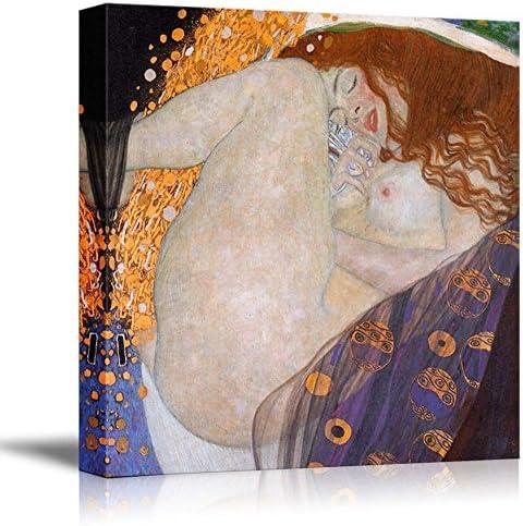 Danae by Gustav Klimt Famous Fine Art Reproduction World Famous Painting Replica on Print Wood Framed