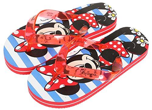 Flip Flops für Kinder (Mädchen) Disney Minnie rot/blau Größe 28-33
