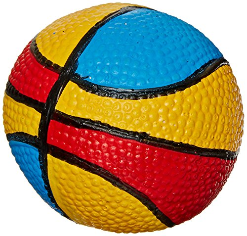 Amazing Pet Products Latex Dog Toy, 2.75-Inch, Rainbow Basketball
