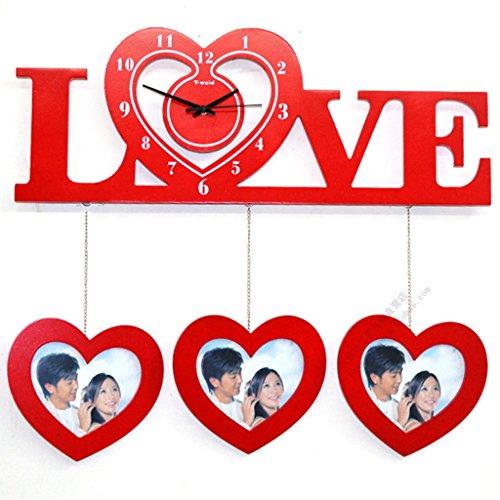Teng Peng Photo Wall-Photo Frame Wall Living Room Wedding Gift Wooden Frame (Size 59CMX high 47CM) (#-#) (Color : B)