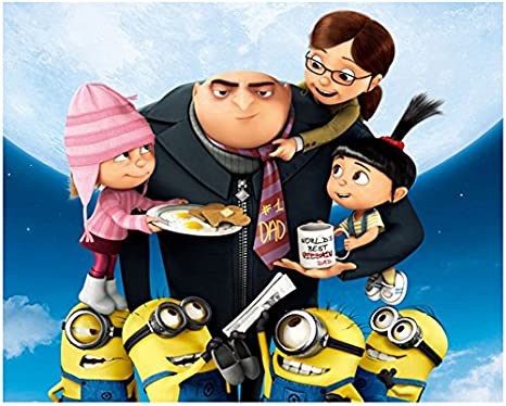 Minions 2015 8 Inch By 10 Inch Photograph Gru Surrounded By Minions Little Girls Kn At Amazon S Entertainment Collectibles Store