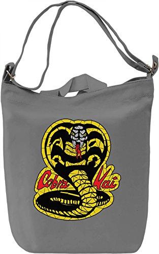 Cobra Kai Borsa Giornaliera Canvas Canvas Day Bag| 100% Premium Cotton Canvas| DTG Printing|