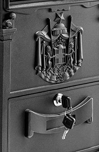 AdirHome Black Steel Old Europe Mailbox by AdirHome (Image #2)