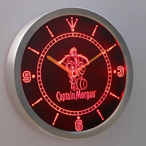 Captain Morgan Spiced Rum Bar 3D Neon Sign LED Wall Clock NC0113-R